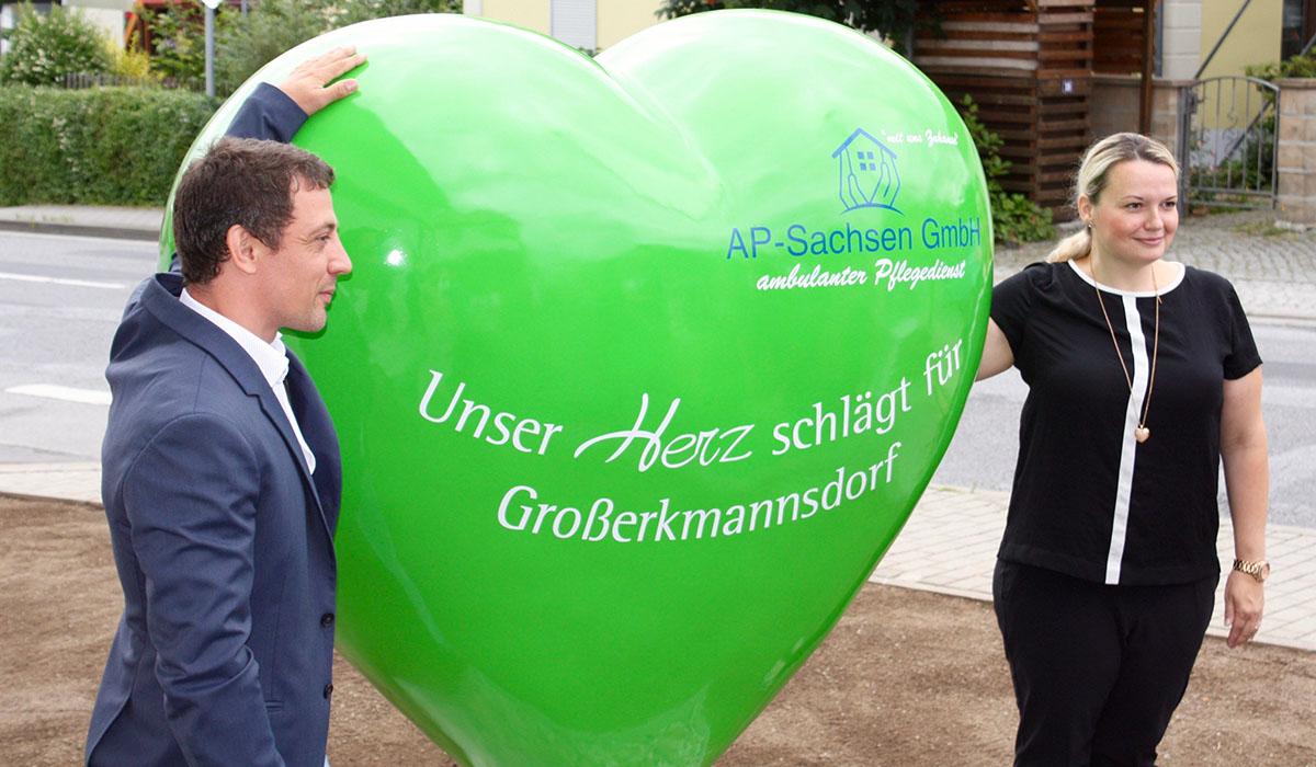 Ein grünes Herz für Großerkmannsdorf